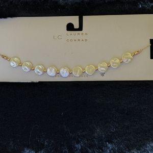 LC Lauren Conrad Opalescent Choker Necklace
